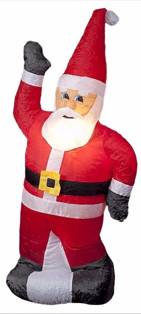 Illuminated Inflatable Standing 4foot Cheery Santa Blow Up Christmas Yard Decor #SantaChristmasDecor #SantaBlowUpChristmasYardDecor #IlluminatedSanta #Standing4footSanta #Santa #ChristmasDecor #Christmas #YardDecor #ChristmasYardDecor #Decor #InflatableSanta