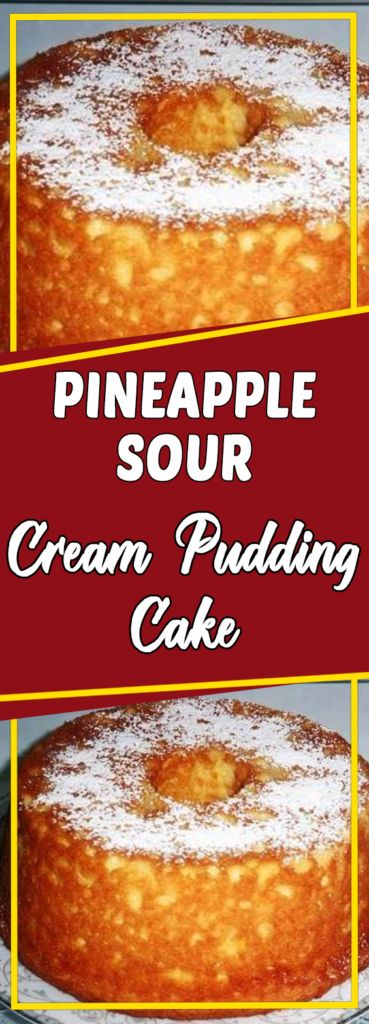 "Welcome again to ""Yummy Mommies"" the home of meal receipts & list of dishes, Today i will guide you how to make ""Pineapple Sour Cream Pudding Cake"". I made this Delicious recipe a few days"