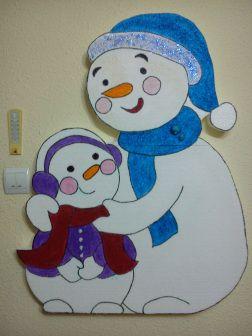 machetă om de zăpadă și băiețel | Machete Didactice