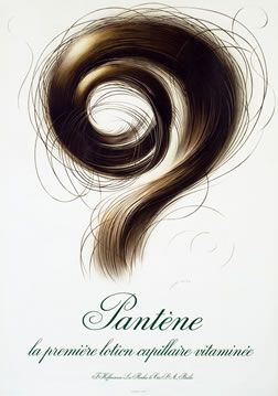 Leupin, Herbert poster: Pantene (white)   Shop original vintage #posters online: www.internationalposter.com
