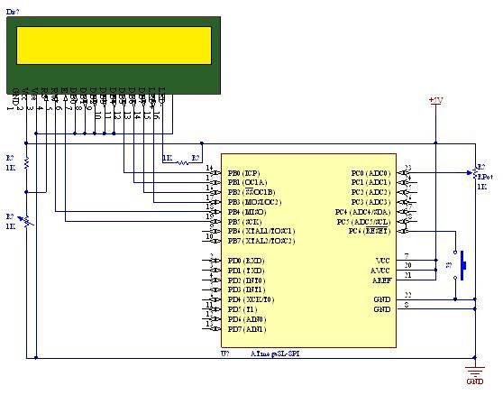 Tutorial on using ADC (Analog to Digital converter) unit of AVR micro controller