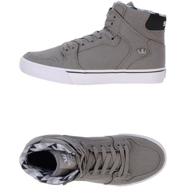 Supra Sneakers ($36) ❤ liked on Polyvore featuring shoes, sneakers, sapatos, supra, grey, gray sneakers, supra sneakers, gray shoes, round cap and round toe sneakers