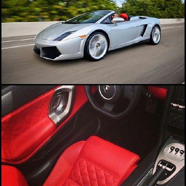 Silver color Lamborghini Gallardo for rental in Miami. Get this car for at cheap rental cost. #Cars #CarRentals #MiamiBeach