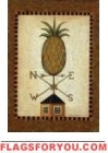 Pineapple Wind Vane House Flag - 1 left