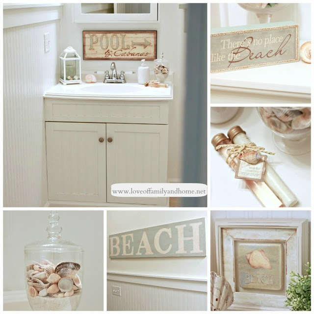 12 best images about ideas for sharon 39 s condo on pinterest for Beach themed bathroom sets