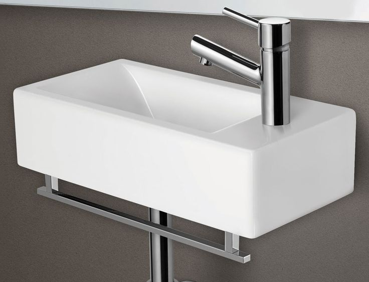 "ALFI Brand AB108 9-1/2"" Porcelain Wall Mount Bathroom Sink with Single Hole Drilled and Overflow - FaucetDirect.com"