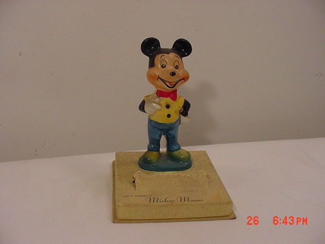 Vintage Mid Century Walt Disney Mickey Mouse US Time Ingersoll Watch Display  #IngersollRand