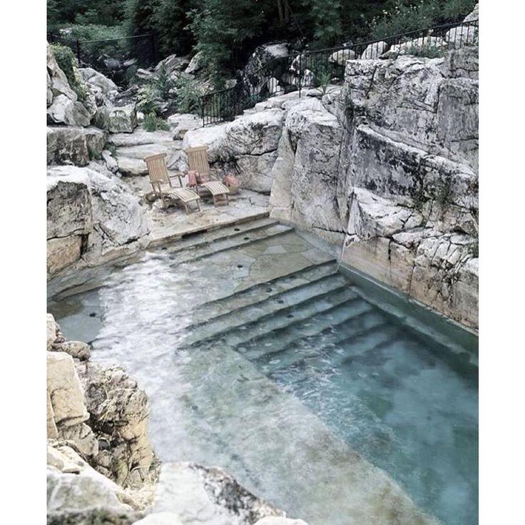 """Roman Thermal Bath inspired backyard pool """