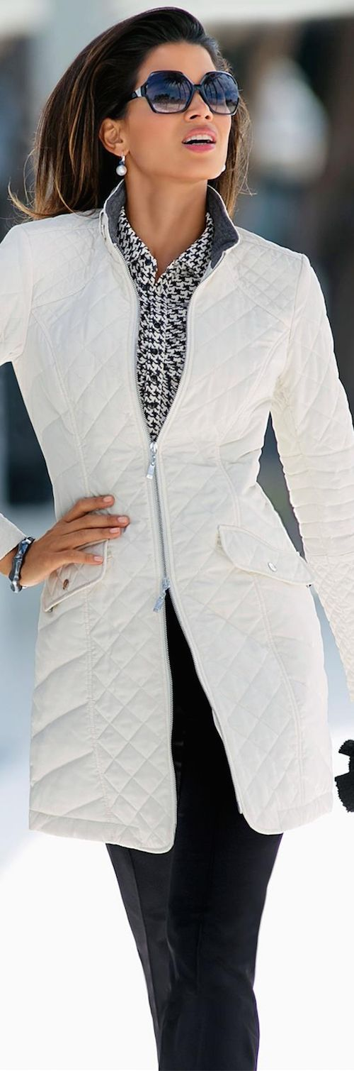 Love this quilted coat for Spring.  I have one in black and need a replacement.