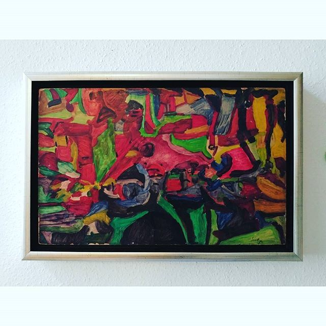 SZITTYA Emil: Compostion, cca 1940 #fineart #abstractpainting #oiloncardboard #oilpainting. #hungarianart #frenchart #hungarianartist #frenchartist #dada #surrealism #szittya #szittyaemil #emilszittya #colourful #ig_art #ig_artistry #artmoderne #modem #artemoderna #avantgarde #composition #abstractexpressionism. #artlover #museumlover #emileszittya