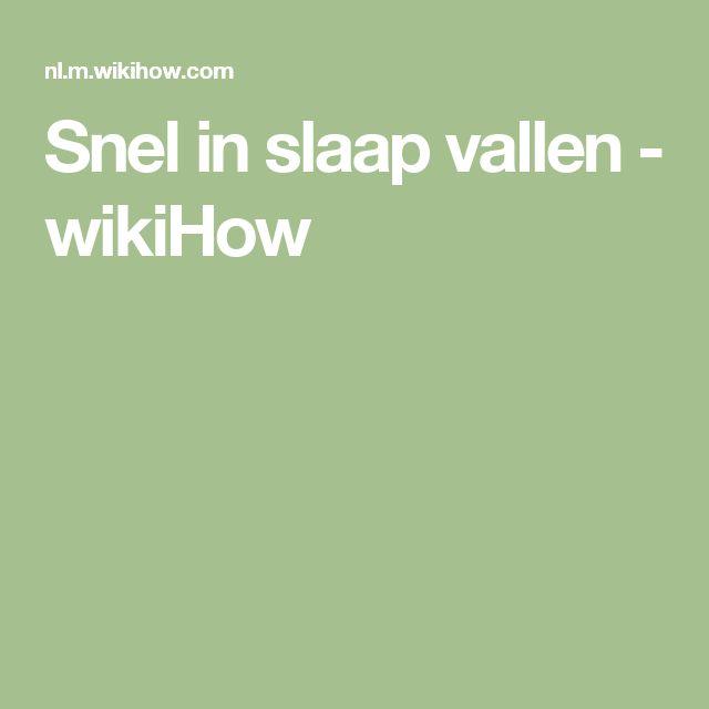 Snel in slaap vallen - wikiHow