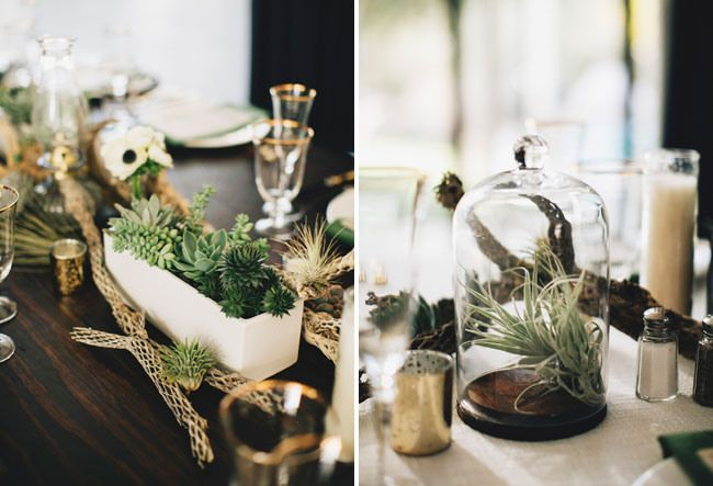 airplant centerpieces // Flowerless weddings