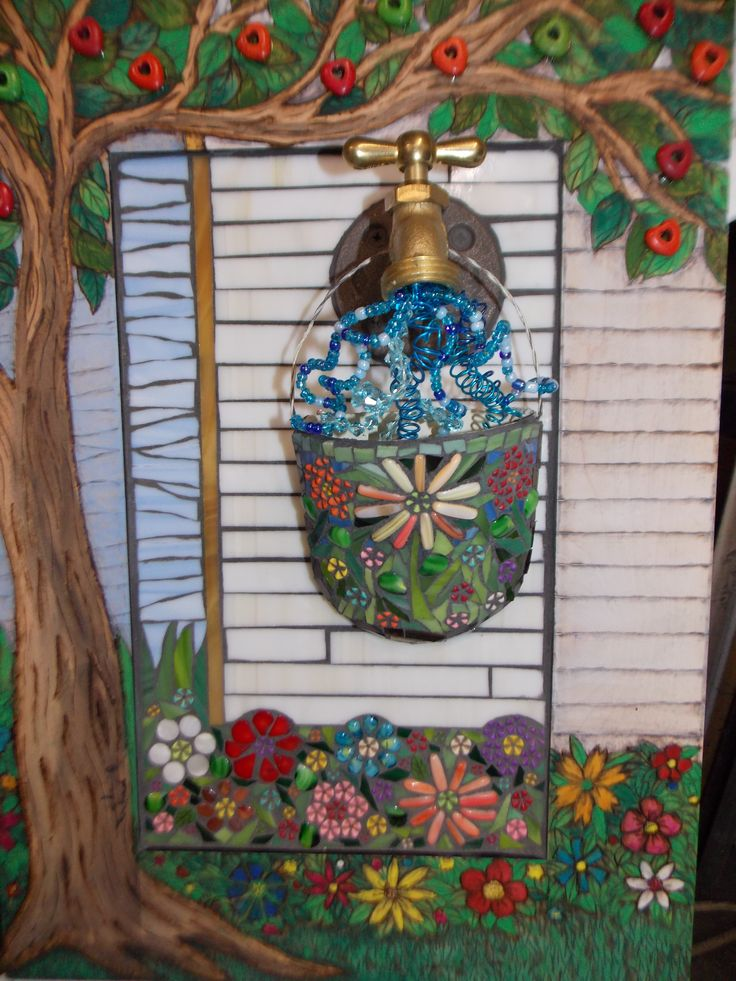 This mosaic is entitled Spigot It features