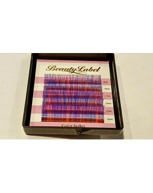 Beauty Label Color lashes rainbow D 0.07 mix Deze prachtige rainbow color lashes van Beauty Label bevatten verschillende kleurtjes op 1 wimper. Het doosje heeft 6 rijtjes wimpers van verschillende lengtes : 9mm, 10mm, 11mm, 12mm, 13mm en 14mm. Bij happywimperextensions.nl