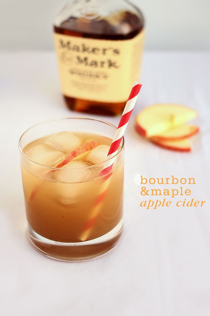 Bourbon Maple Apple Cider--I think we found our Thanksgiving cocktail!