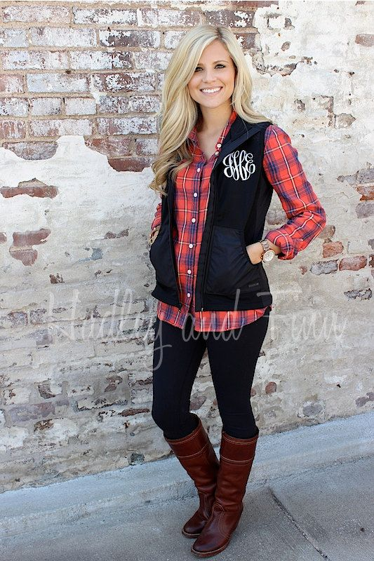 Monogrammed Light Weight Vest by hadleyandfinn on Etsy, $45.00