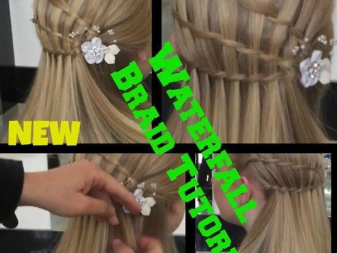3 Minute ** Waterfall Braid hair Tutorial Waterfall braid hairstyle for medium/long hair how to braid hair Tips waterfall braidingbraided hairstyleswaterfall braiding