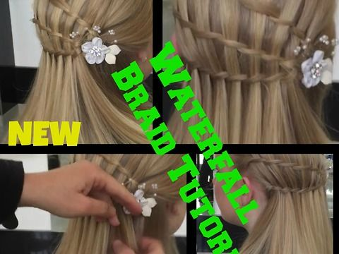 3 Minute ** Waterfall Braid hair Tutorial Waterfall braid hairstyle for medium/long hair how to braid hair Tips waterfall braidingbraided hairstyleswaterfall braiding