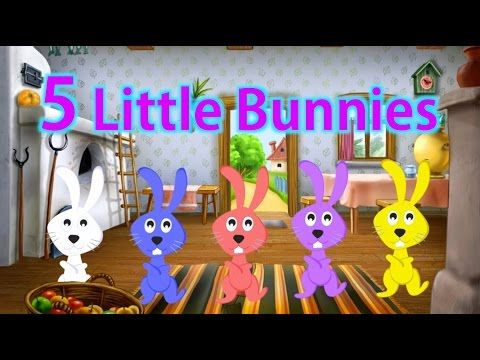 Five Little Bunnies + More Kids Songs From NOURA nursery rhyme for kids - YouTube
