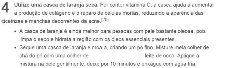 Acne - casca de laranja