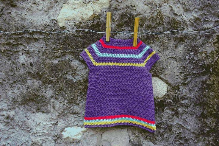 Crochet tunic for little girl