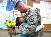 Soldier Surprises His Daughters at School - Their Reaction is Priceless!