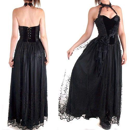 Vestido Gótico Muy Elaborado