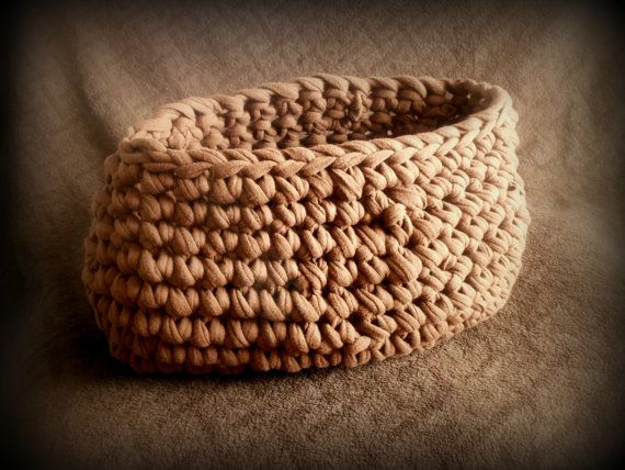 Newborn photography prop Chocolate Brown Chunky Moses Style Basket Crochet by ShortMountain, $35.00
