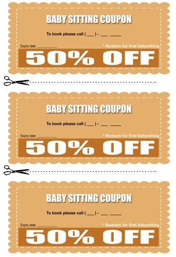 Best Babysitting Coupon Book Templates Images On