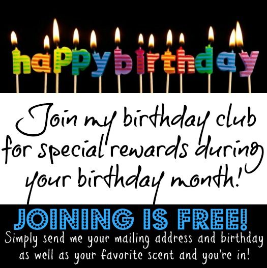 Contact me about my Birthday Club!! You will be glad that you did!! <3https://savannahlea.scentsy.us