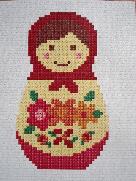 Two Little Babushkas cross stitch pdf pattern. by cupcakecutie1