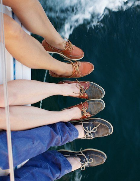 Boat shoes!  Nice in the right situation, but don't look like Zack Sack Lodge (Bradley Cooper) from Wedding Crashers ;-)