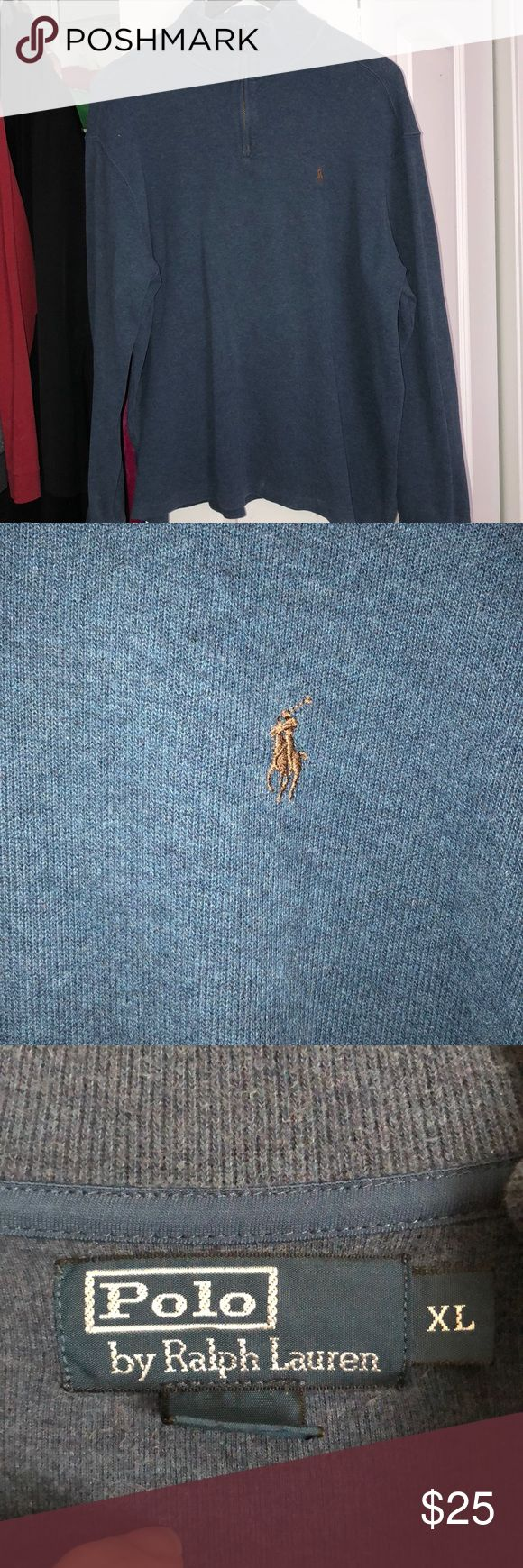 Men's XL Polo Pullover Light blue XL pullover Ralph Lauren. Used but still in great condition Polo by Ralph Lauren Shirts Polos