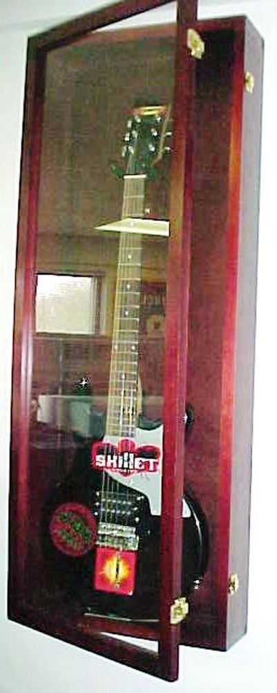 Guitar Display case/ Solid hardwood Strat / gibson Cherry #PDC