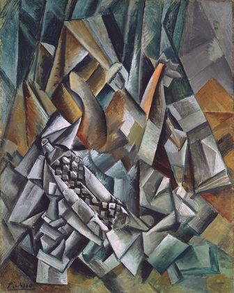 Pablo Picasso / Still Life with Liqueur Bottle / August 1909 / MoMa