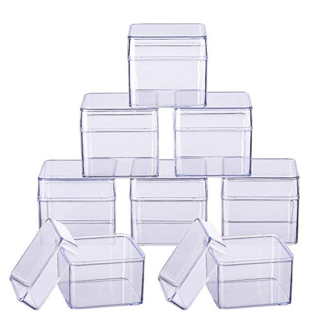 Benecreat 10 Pack Large Square High Transparency Plastic Bead Storage Containers Box Drawer Organizers For Be Bead Storage Drawer Organizers Storage Containers