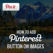 Make is as easy as possible for your visitors to share your content. How to Add Pinterest Pin-it Button Over Your Images in WordPress.