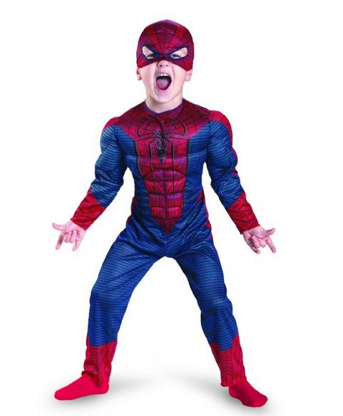 Amazing SpiderMan Costume - With Muscles!! - GeekBabyClothes.com GeekBabyClothes.com