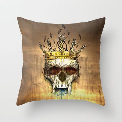 NO GLORY Throw Pillow by Original Asker - $20.00
