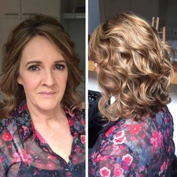 curly mother of the bride hairstyle for medium hair