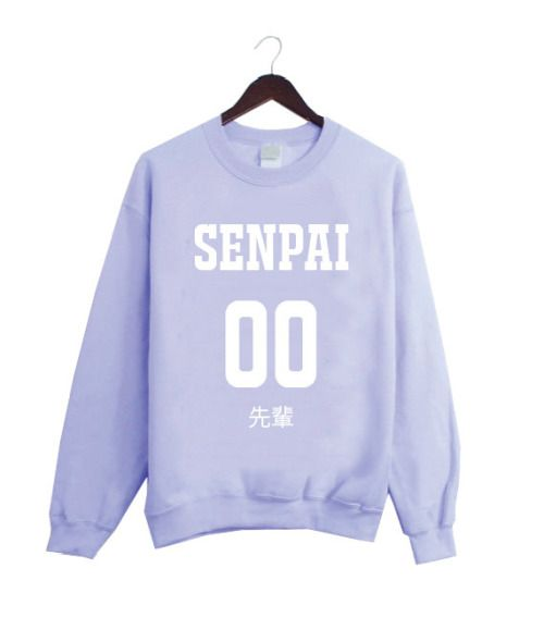 senpai sweatshirt| up to 2XL!  pastel pastel grunge fairy kei harajuku pastel goth fachin sweatshirt top plus etsy