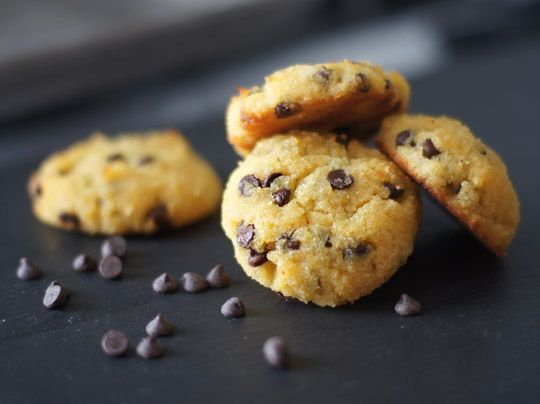 Amazing coconut flour chocolate chip cookies (I used butter and honey instead of coconut oil and maple syrup, with 60% chocolate chips)