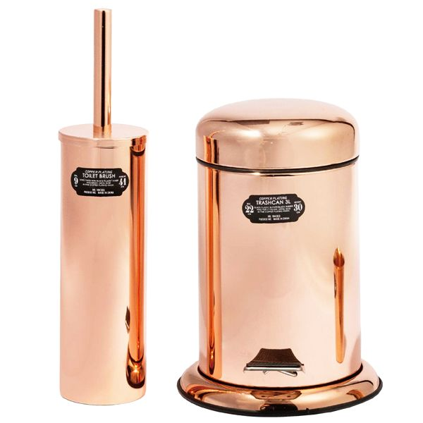 COPPER PLATED TOILET BRUSH