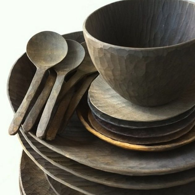 WABI SABI - simple, organic living from a Scandinavian Perspective.: Wooden tableware by Masaaki Saito