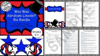 Nonfiction units are essential to young learners. The Who Was, Who Is, Who Were Series is a wonderful way to introduce students to key historical figures. The Who Was Abraham Lincoln? Bio Bundle offers a easy to use lesson plan guide, vocabulary, comprehension questions, activities, review games, assessments, answer keys, book reports and rubrics.