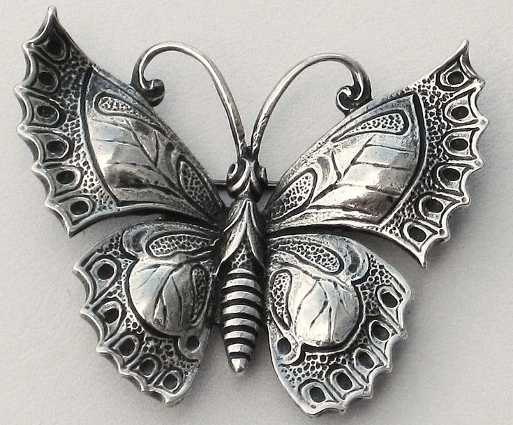Cini Sterling Silver Butterfly Pin from Cobayley Vintage Jewelry http://www.rubylane.com/item/506482-100-5651/Beautiful-Graceful-Cini-Sterling-Silver