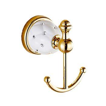 Novo Design Gancho da Veste, Roupas Hook, Construção Sólida Latão acabamento Dourado bath hardware acessório de decoração para casa 5201