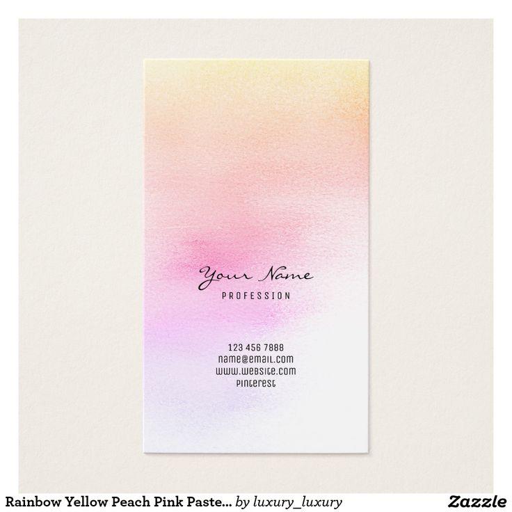 Verre en pastel d'Ombre de pêche de rose jaune de Cartes De Visite