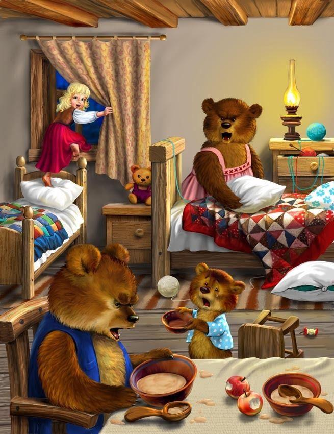 Goldilocks And The Three Bears - Illustrator Unknown