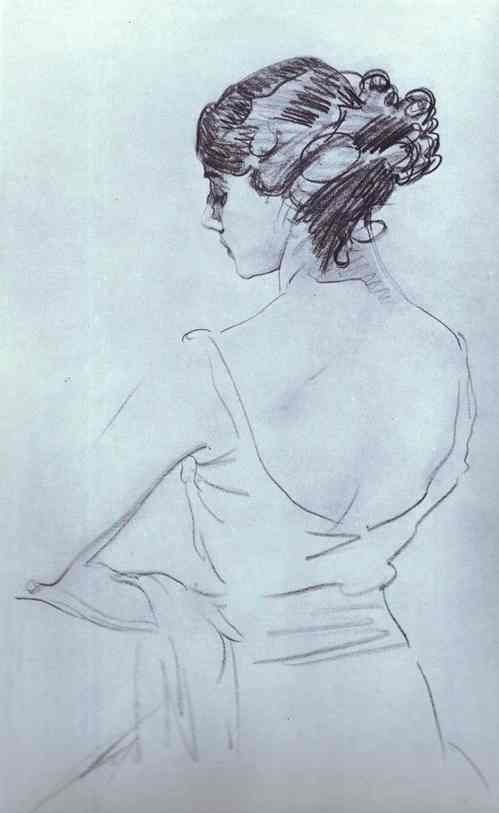 Portret of ballerina Tamara Karsavina